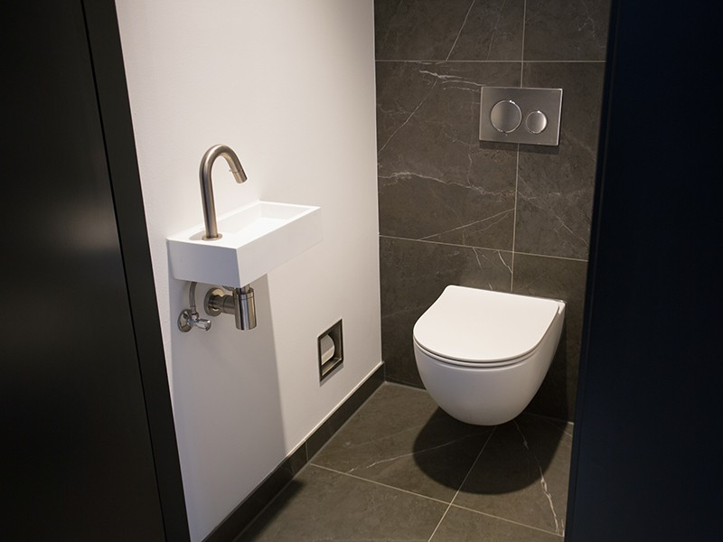 Idee deco toilette en gris conceptions architecturales for Deco toilette moderne